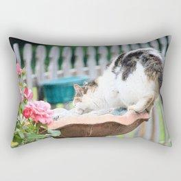 Kit Kat in the Fountain Rectangular Pillow