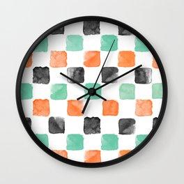 Watercoloured Chess Wall Clock