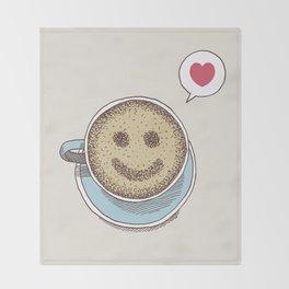 Coffee Love Throw Blanket