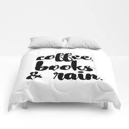 Coffee, Books & Rain. Comforters
