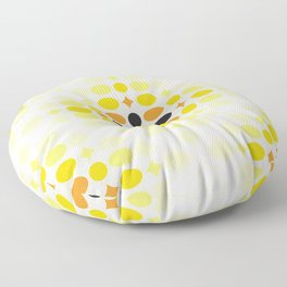 Stone Wall (Cockatoo Yellow) Floor Pillow
