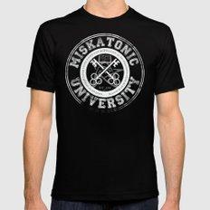 Miskatonic University Emblem (Dark version) LARGE Mens Fitted Tee Black