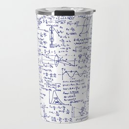Physics Equations in Blue Pen Travel Mug