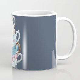 Lean on Me in Navy | Teacup Painting Wall Art Coffee Mug