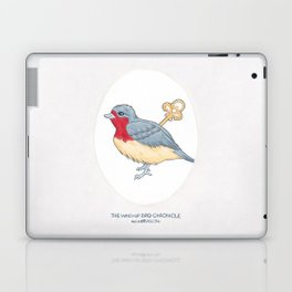 Haruki Murakami's The Wind-Up Bird Chronicle // Illustration of a Bird with a Wind-up Key in Pencil Laptop & iPad Skin