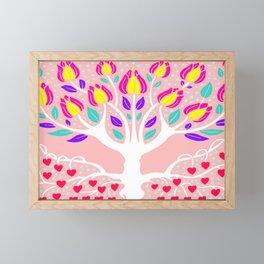 Love Grows Forever - Blush Peach Framed Mini Art Print