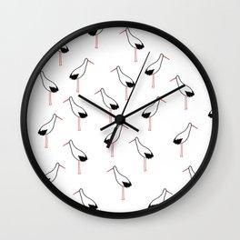 Dorky Stork Wall Clock