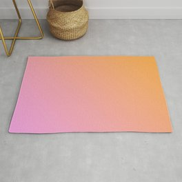 Orange, pink Ombre. Rug