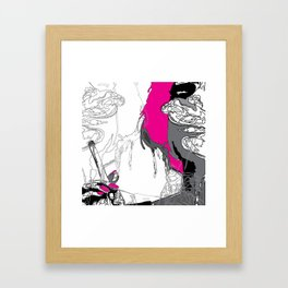 The Smoker #3 Framed Art Print