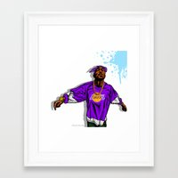 lakers Framed Art Prints featuring Lakers Mood by Mike Farhat Art Mobb