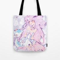 mew Tote Bags featuring Lady Mew Mew  by Chocolat