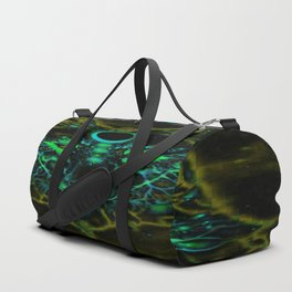 Mythical Neon Yellow Wolf Duffle Bag