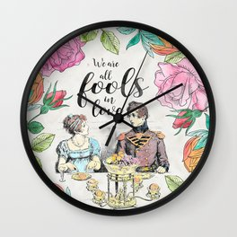 Pride and Prejudice - Fools in Love Wall Clock