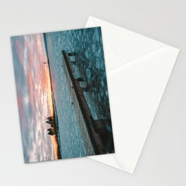 Icy Harbor Sunset Stationery Cards