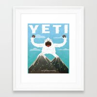 yeti Framed Art Prints featuring Yeti by Artificial primate