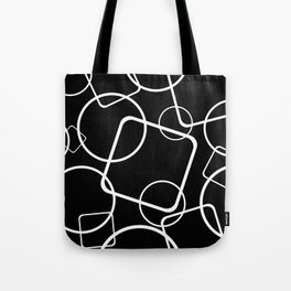 Black and white minimalist geometric abstract Tote Bag