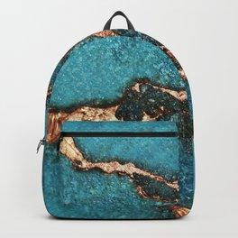 GEMSTONE  & GOLD AQUA Backpack