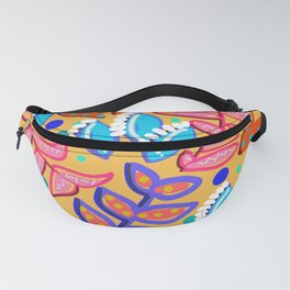 Whimsical Leaves Pattern Fanny Pack
