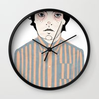 stripes Wall Clocks featuring Stripes by Le Butthead