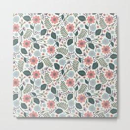 Blush Blooms Metal Print