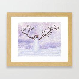 snowman joy Framed Art Print