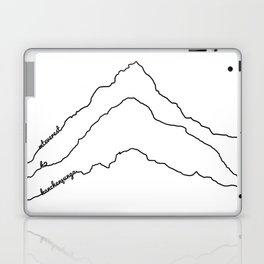 Tallest Mountains in the World B&W / Mt Everest K2 Kanchenjunga / Minimalist Line Drawing Art Print Laptop & iPad Skin
