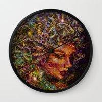 medusa Wall Clocks featuring Medusa.... by shiva camille