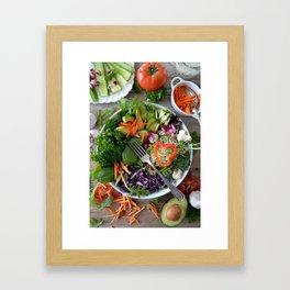 Vegan summer III Framed Art Print