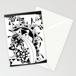 white Triangle Stationery Cards