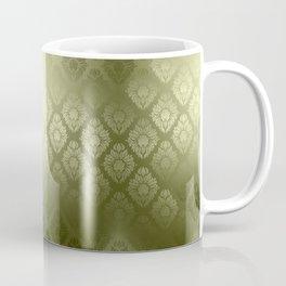 """""""Olive Damask Pattern"""" Coffee Mug"""