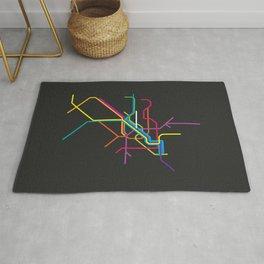milan metro map Rug