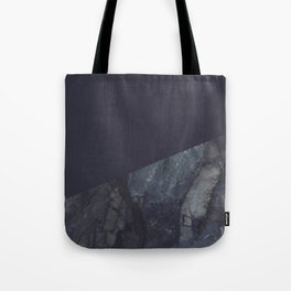 Marble Geometric Navy Blue Indigo Tote Bag