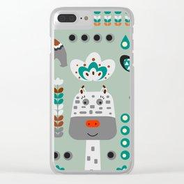 Happy giraffe Clear iPhone Case