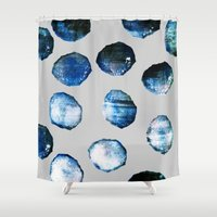 mineral Shower Curtains featuring mineral 03 by LEEMO