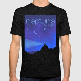 NEPTUNE Space Tourism Travel Poster T-shirt