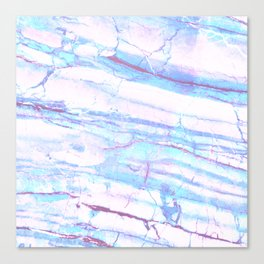 Pastel Marble with Blue Green Purple Canvas Print