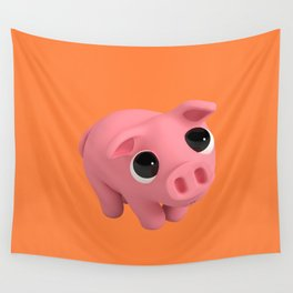 Rosa the Pig is Shy Wall Tapestry
