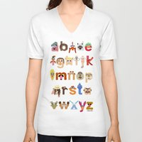 muppet V-neck T-shirts featuring The Great Muppet Alphabet (the sequel) by Mike Boon