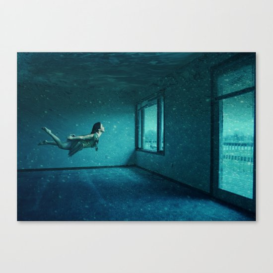 swimming girl Canvas Print