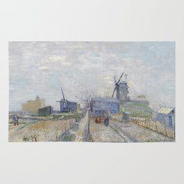 Montmartre - windmills and allotments by Vincent van Gogh Rug