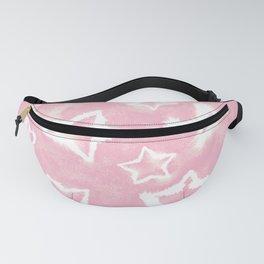 Light Pink Tie Dye Stars Fanny Pack