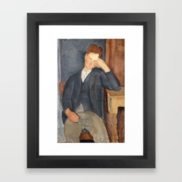 The Young Apprentice, Amedeo Modigliani Framed Art Print