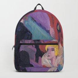 Ernst Ludwig Kirchner - Street With Red Streetwalker Backpack