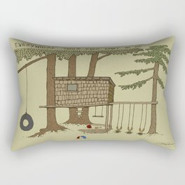 Tree Fort Rectangular Pillow