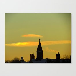Sunset Sun Dog (2) Canvas Print