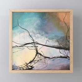 Heaven and Hell Abstract Painting by Jodi Tomer Cloudy Painting Sticks Framed Mini Art Print