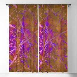 Forest Aura - Geometric Ink Splash Blackout Curtain