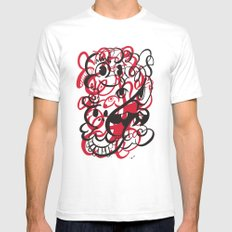 Happy doodle do! Red version Mens Fitted Tee White SMALL