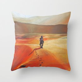 The Martian Mars walk inspired chalk drawing Throw Pillow
