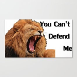 You Can't Defend Me Canvas Print